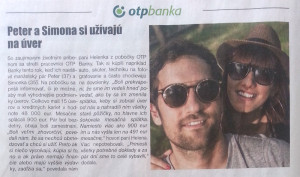 OTP Banka - Peter a Simona si užívajú na úver