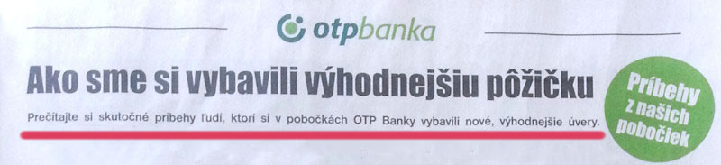 OTP Banka - skutočné príbehy ľudí