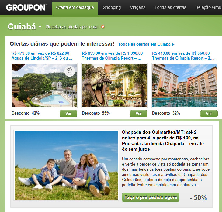 pán Pavol s rodinou na stránke groupon.com.br
