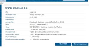 Štatistický register organizácií - zistenie SK NACE a Právnej formy